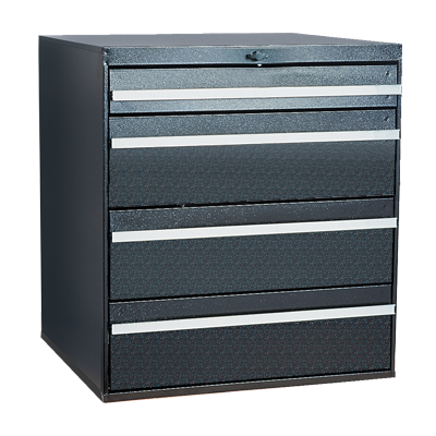 Craftline Storage System | Modular Drawer Cabinet | Knob Lock | Made In USA | PL-BBL-4