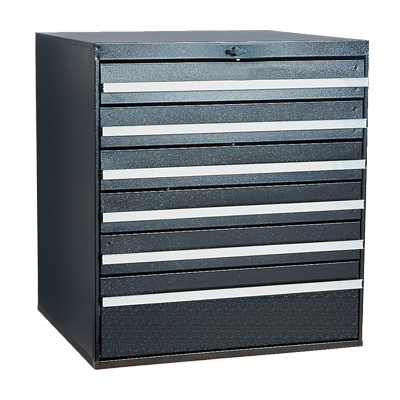 Craftline Storage System | Modular Drawer Cabinet | Knob Lock | Made In USA | PL-BBL-6
