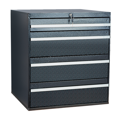 Craftline Storage System | Modular Drawer Cabinet | Key Lock | Made In USA | PL-BBL-4