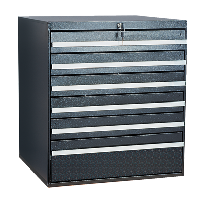 Craftline Storage System | Modular Drawer Cabinet | Key Lock | Made In USA | PL-BBL-6