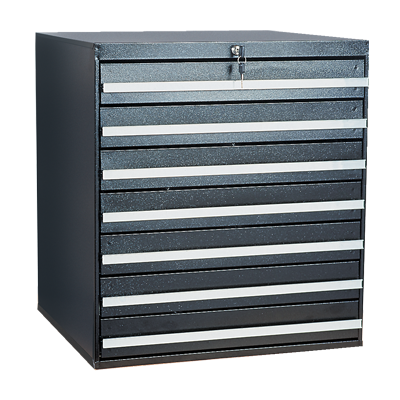 Craftline Storage System | Modular Drawer Cabinet | Key Lock | Made In USA | PL-BBL-7