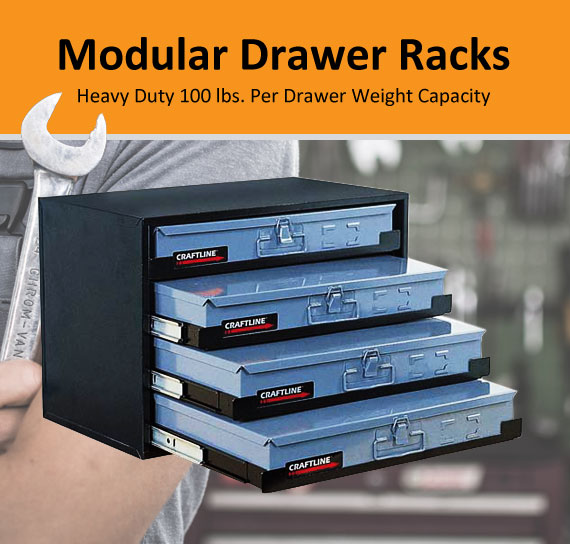 Craftline Storage System | Made In USA | Drawer Racks