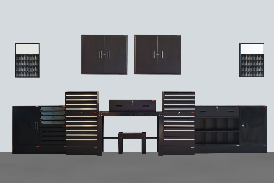 Craftline Storage Systems | Black Texture | Made In USA