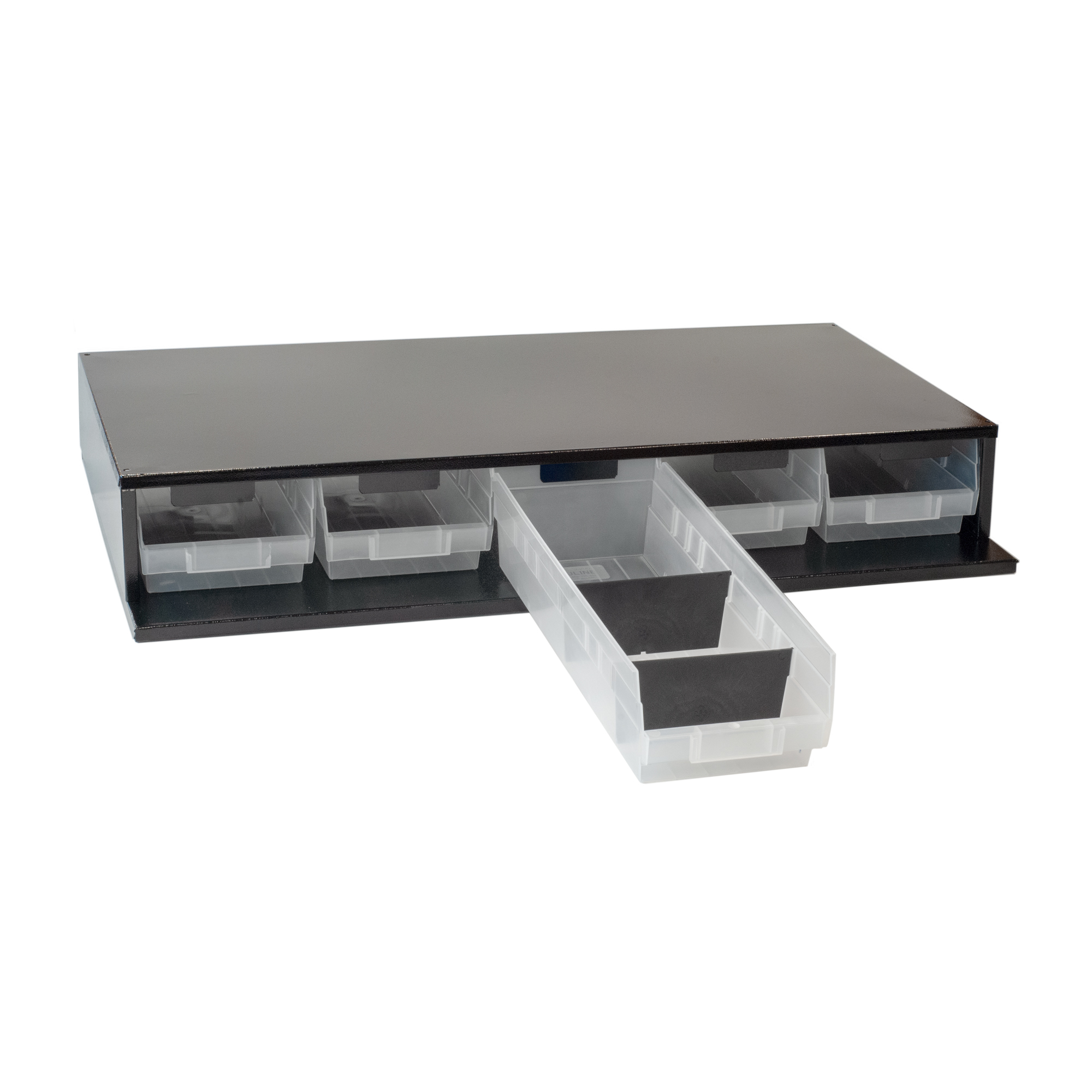 Craftline Storage System | Made In USA | Large Modular Stackable Bin Cabinet | PL-LG5BIN