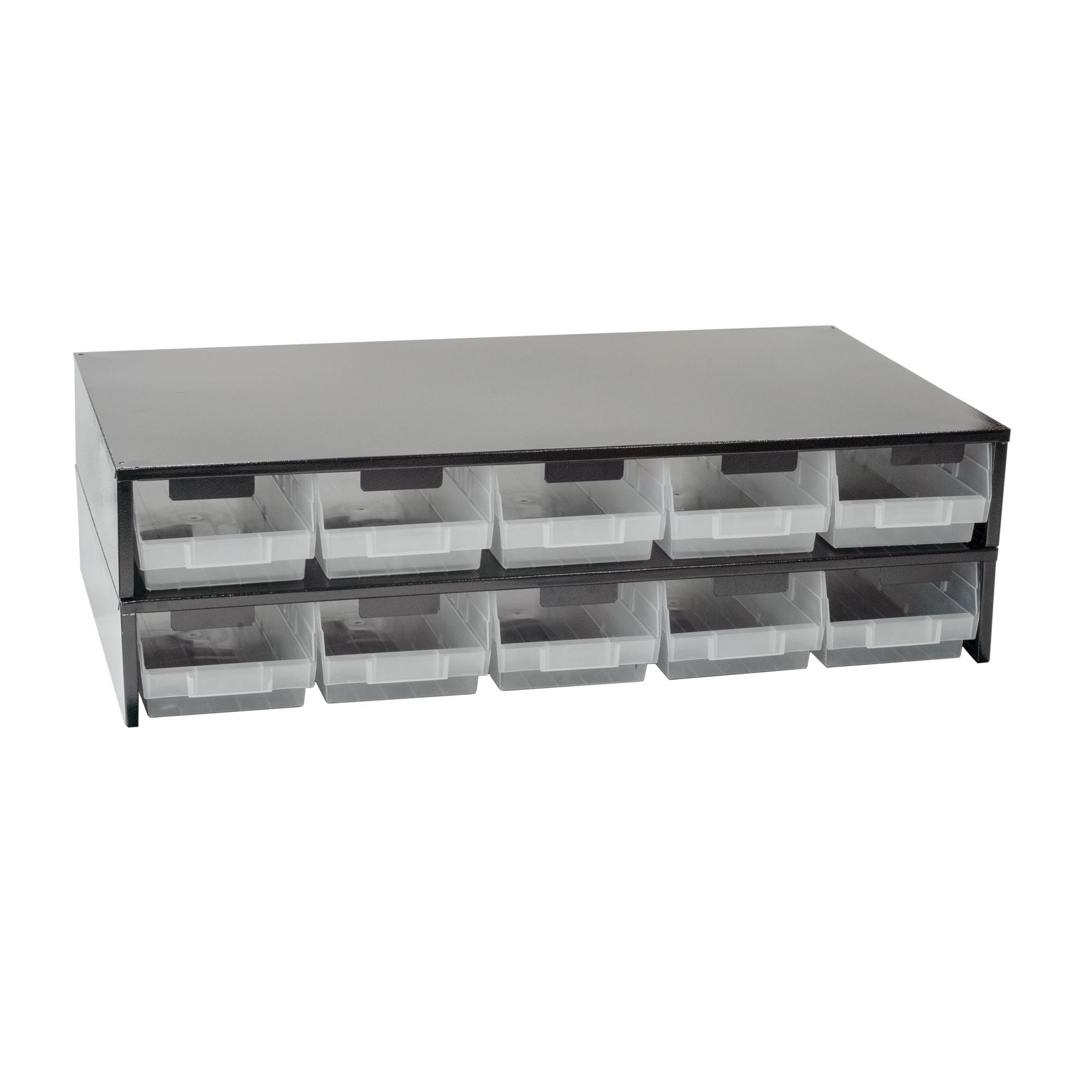 Craftline Storage System | Made In USA | Large Modular Stackable Bin Cabinet | PL-LM5BINSTACK