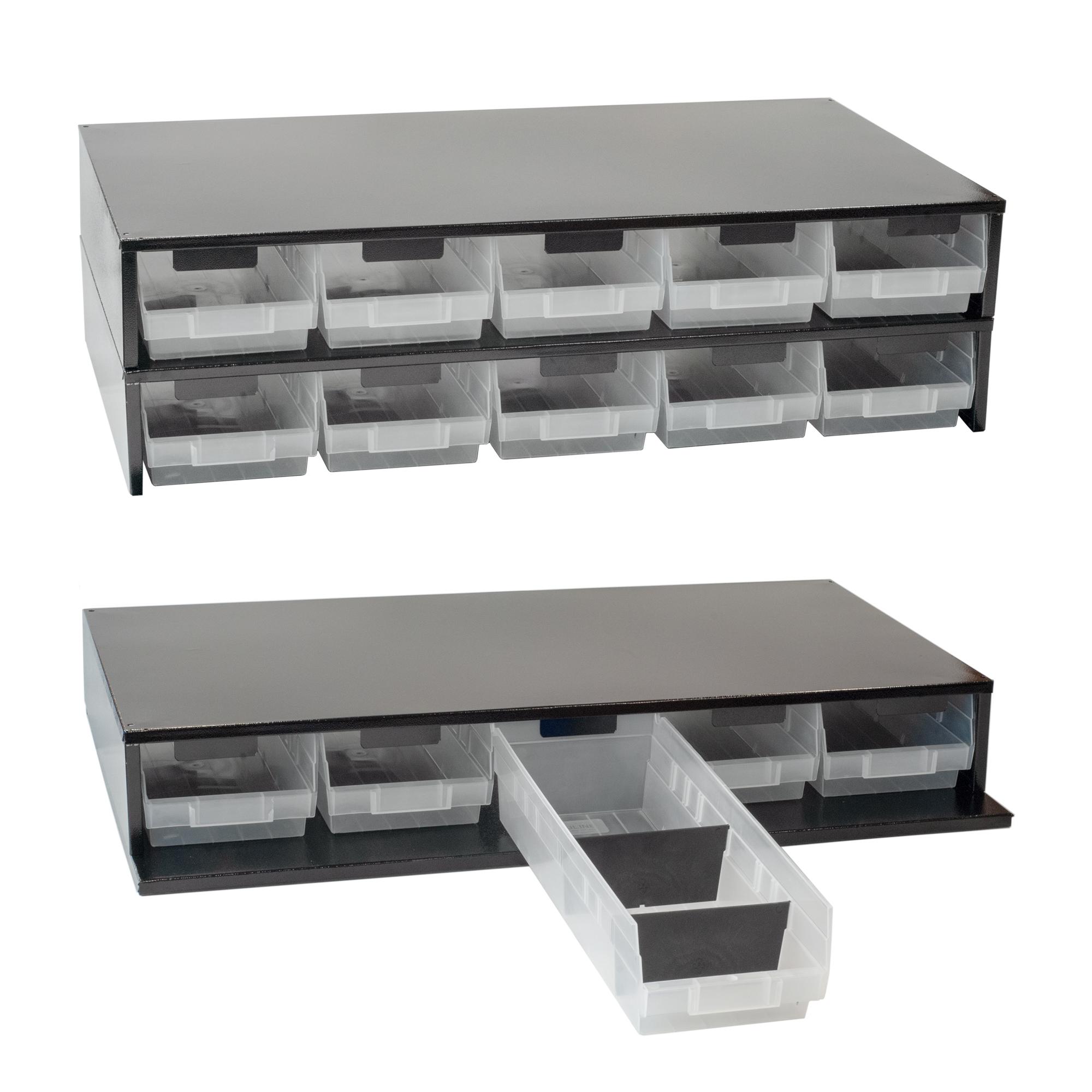 Craftline Storage System | Made In USA | Large Modular Stackable Bin Cabinet